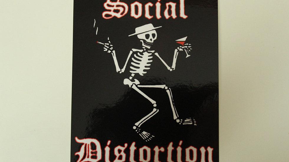 SOCIAL DISTORTION SKELETON LOGO STICKER