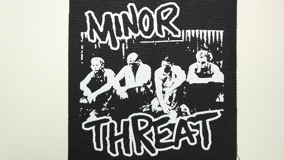 MINOR THREAT SCREENPRINTED PATCH