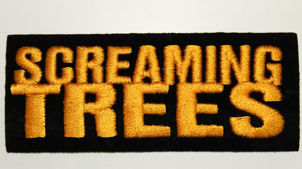 SCREAMING TREES YELLOW LOGO PATCH