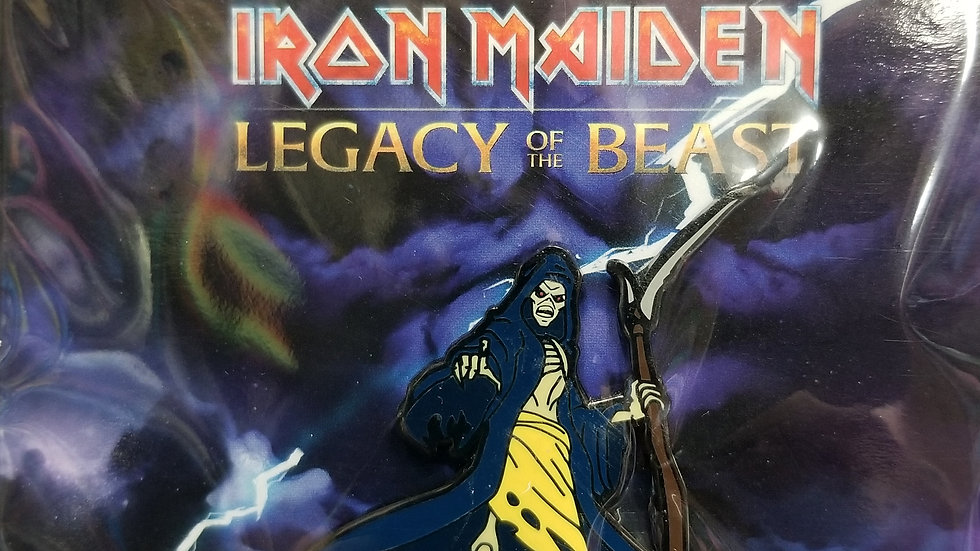 "Iron Maiden Legacy of the Beast ""Grim Reaper"" enamel pin"