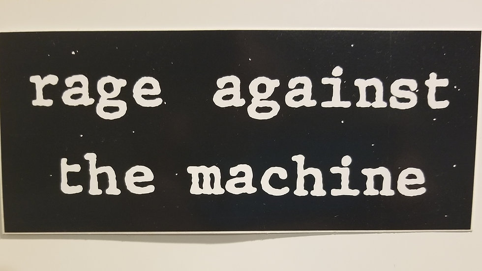 RAGE AGAINST THE MACHINE TEXT VINYL STICKER