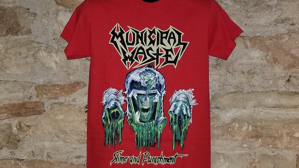 MUNICIPAL WASTE SLIME AND PUNISHMENT TEE