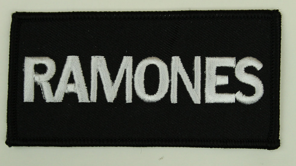 RAMONES WHITE LOGO PATCH
