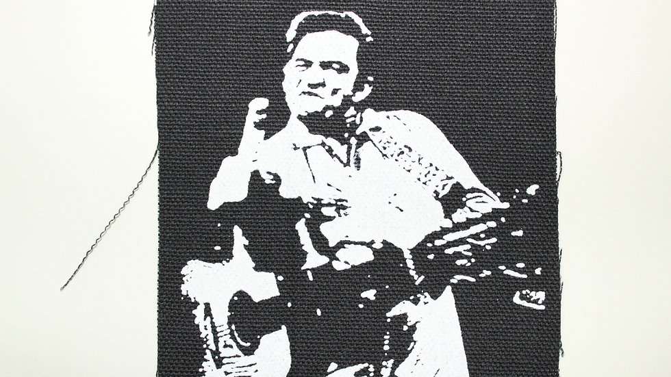 JOHNNY CASH SCREENPRINTED PATCH