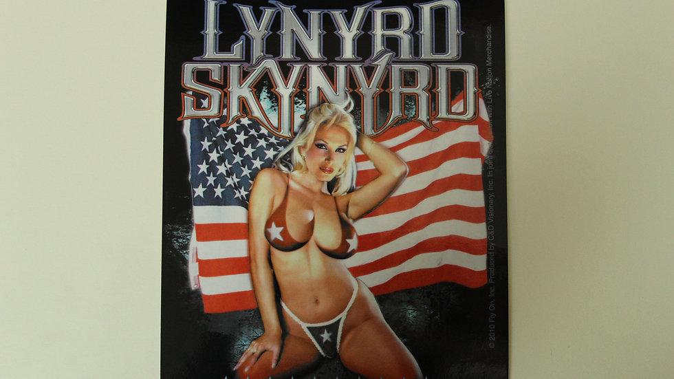 LYNYRD SKYNYRD FLAG STICKER