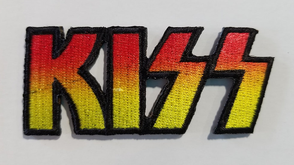 KISS DIE CUT LOGO EMBROIDERED PATCH