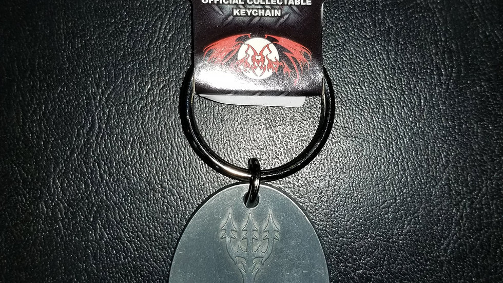 DISSECTION 666 CROSS METAL KEYCHAIN