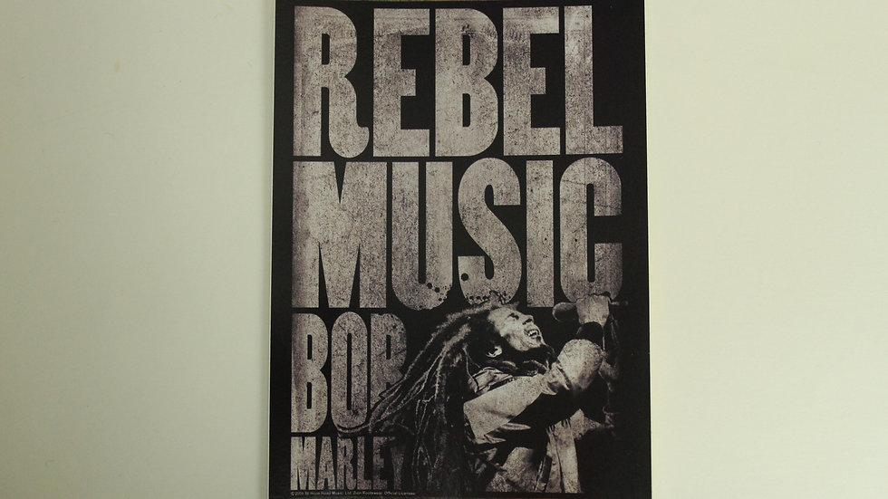 BOB MARLEY REBEL MUSIC STICKER