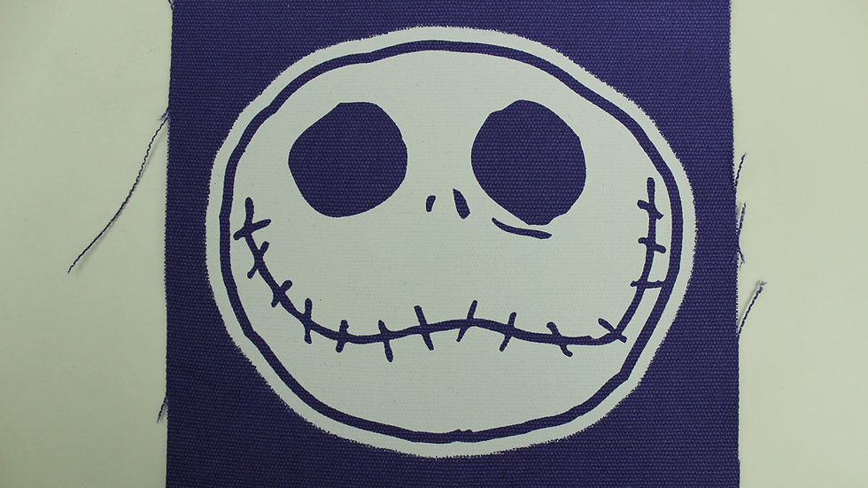 NIGHTMARE BEFORE CHRISTMAS JACK ON PURPLE PATCH