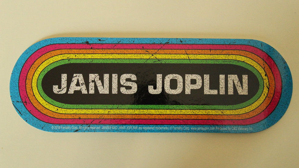 JANIS JOPLIN ROUNDED STICKER