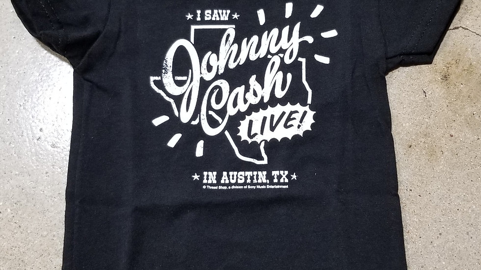 JOHNNY CASH LIVE IN AUSTIN, TX KIDS TEE