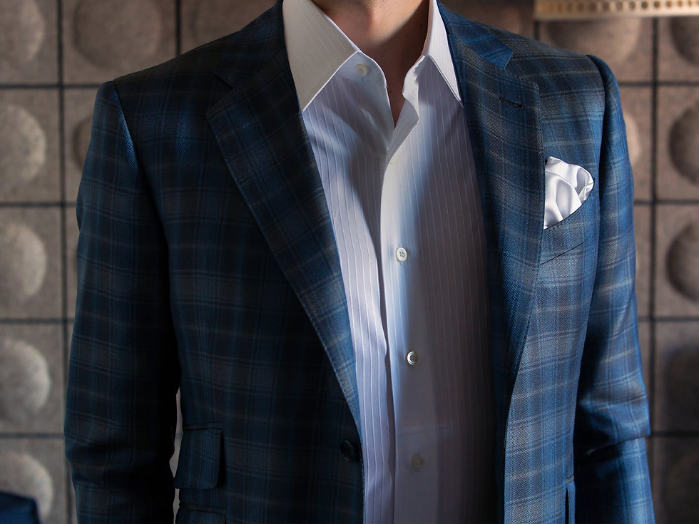 Bespoke suit made by hand in Toronto by MICHEL'S BESPOKE in Toronto
