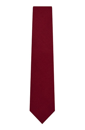 SOLID BRUSHED WOOL TIE