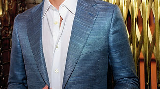 Custom silk suit, handmade in Toronto by MICHEL'S BESPOKE