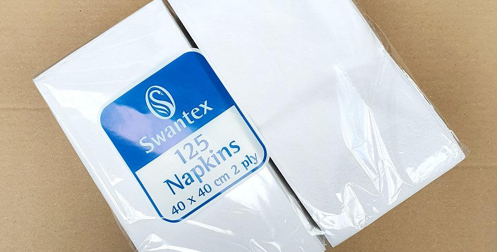 White 40cm Folded Napkins x2000