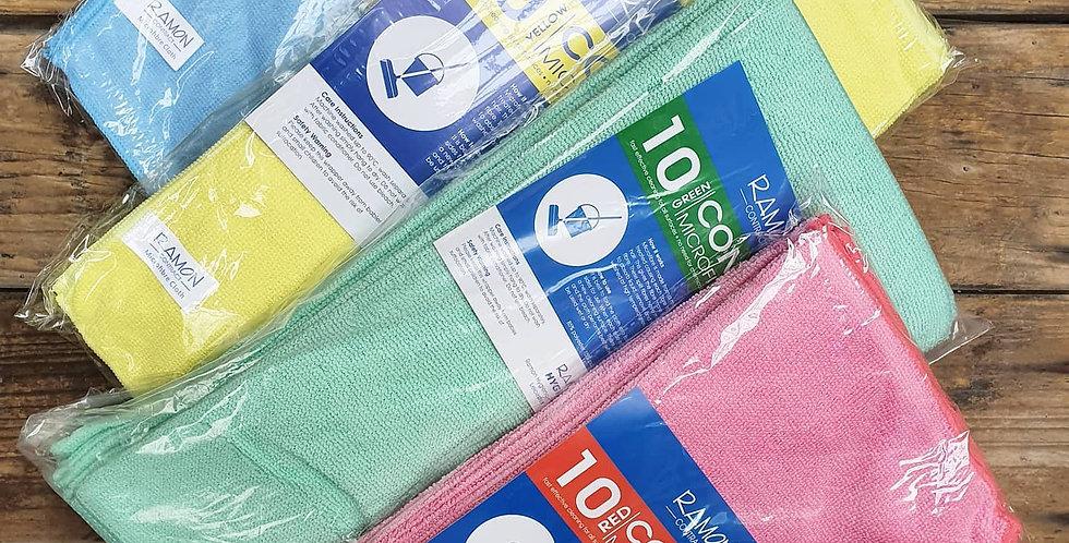 Large Microfibre Cloths x10