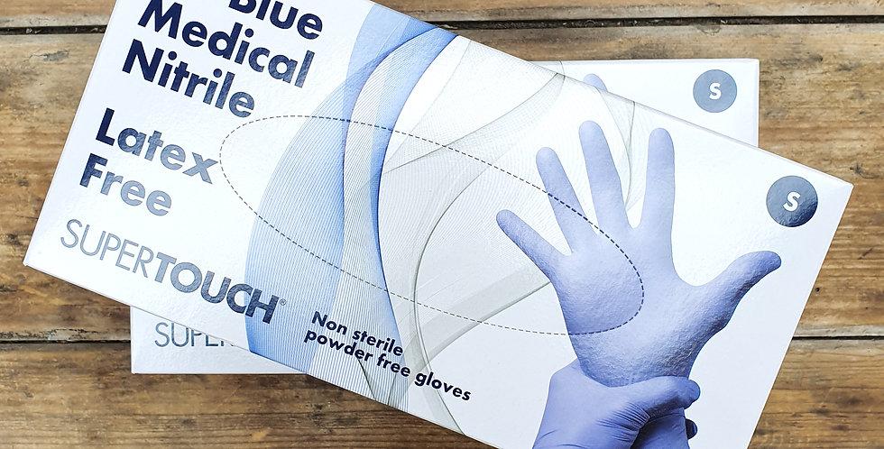 Blue Nitrile PF Gloves x100