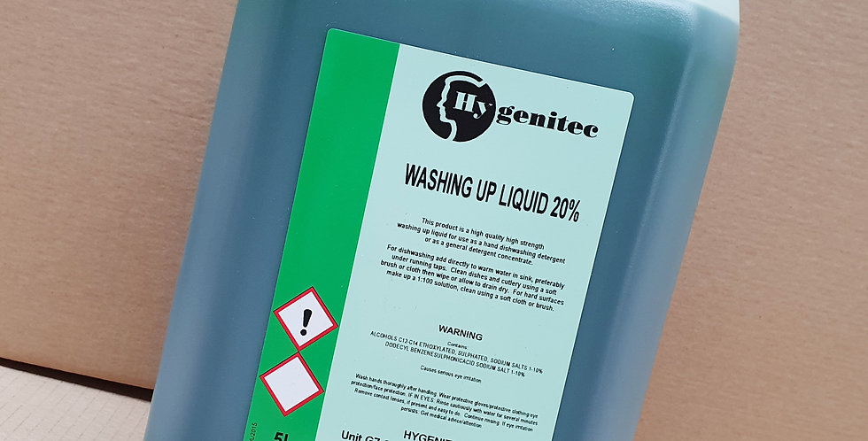 Washing Up Liquid 20% 5ltr