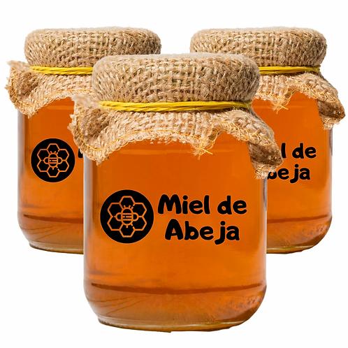3 Frascos de Miel de abeja Natural de 500 g C/U