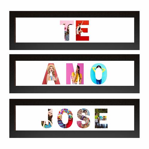 Cuadro de letras con foto 3 cuerpos