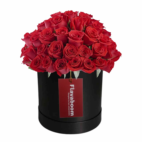 Lima, caja con 60 rosas rojas PREMIUM