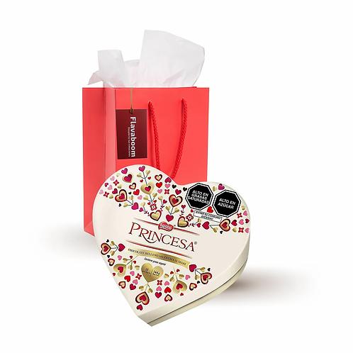 Chocolate Corazón PRINCESA
