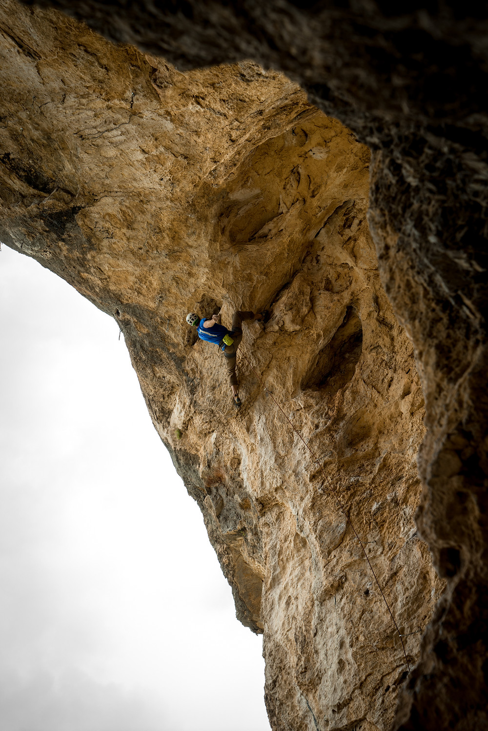 Moving into the overhang on Raising Cain