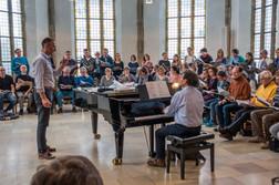 Probe mit Hannes Kalbrecht am Klavier