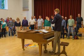 Chorprobe mit Nikolaus Henseler