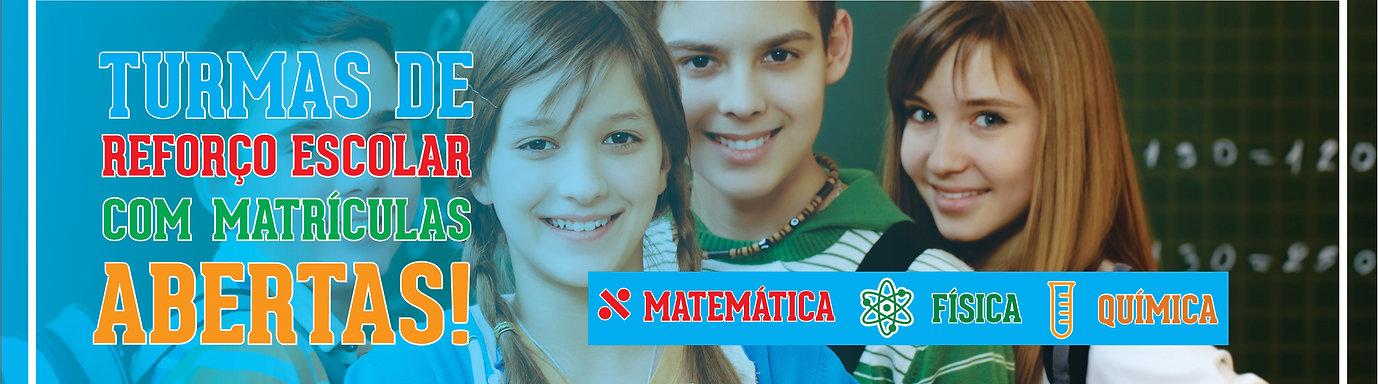 Reforço escolar em matemática, física e química