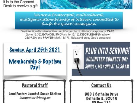 4-25-21 Bulletin