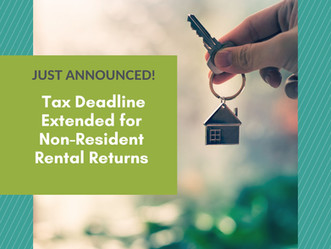 CRA: Tax Deadline Extended for Non-Resident Rental Returns