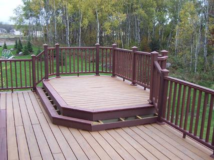 Nearly finished backyard deck