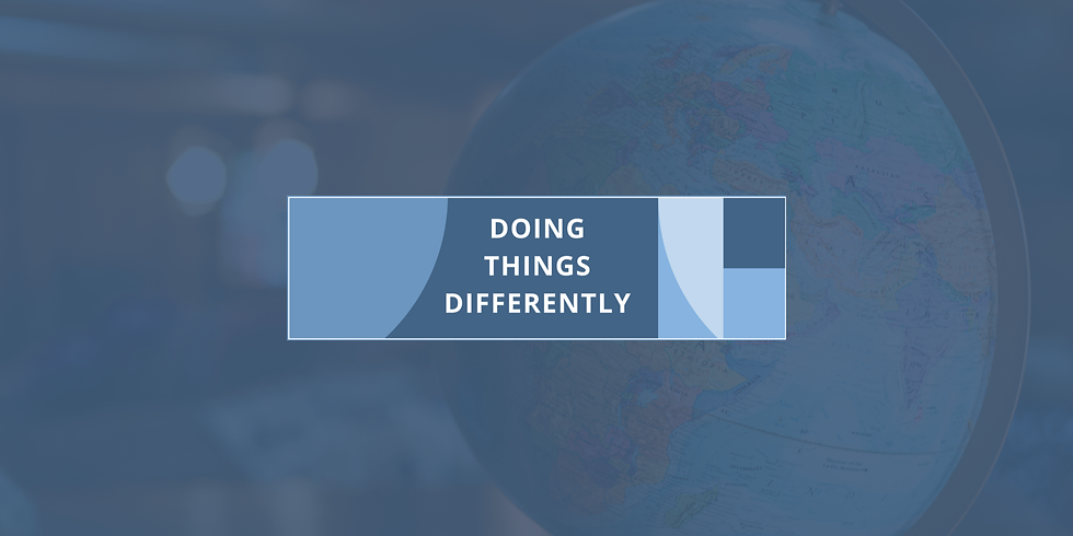 Doing Things Differently: International perspectives on recovering and re-setting from Covid-19