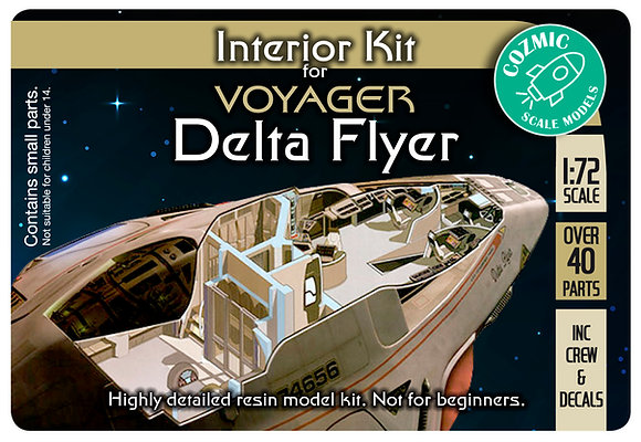 1:72nd scale Delta Flyer Interior Kit
