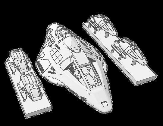 1:667 scale Voyager 'Delta Flyer & Shuttle Set'