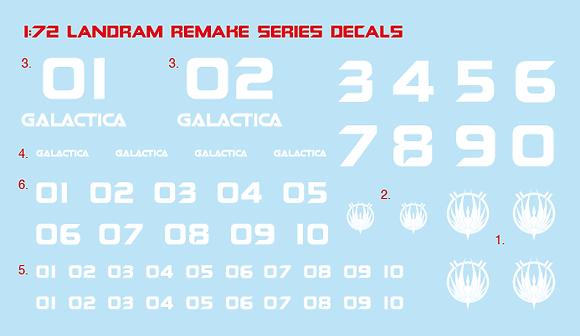 1:72nd Landram Re-make series decals