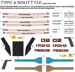 Custom Ship Registry for 1:72 shuttles & pods