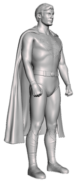 "Superman 9"" resin figure"