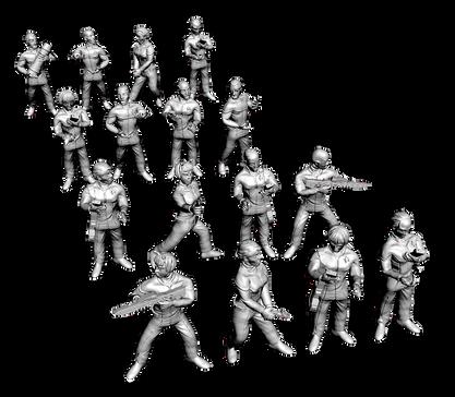Star Trek Crew figures