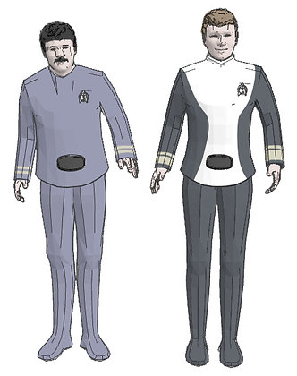 1:72nd scale Kirk & Scotty (Motion Picture uniform)