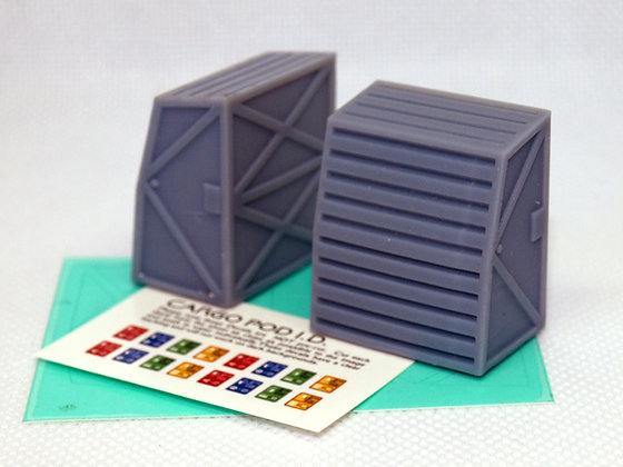 1:72nd scale Single Cargo Pods (2 x pack))