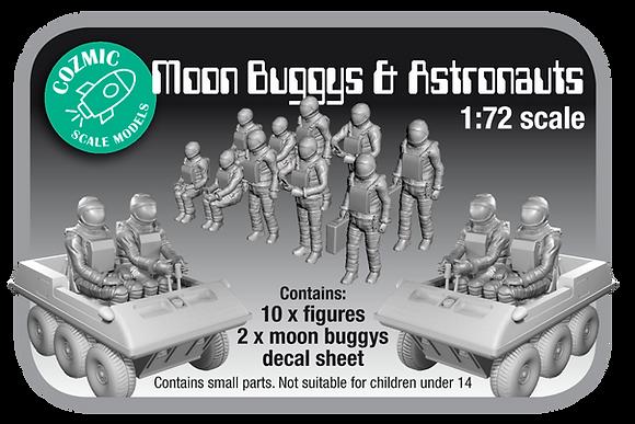 1:72 scale Moon Buggy's & Astronauts