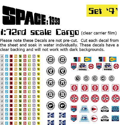 1:72nd scale Cargo Box Decals