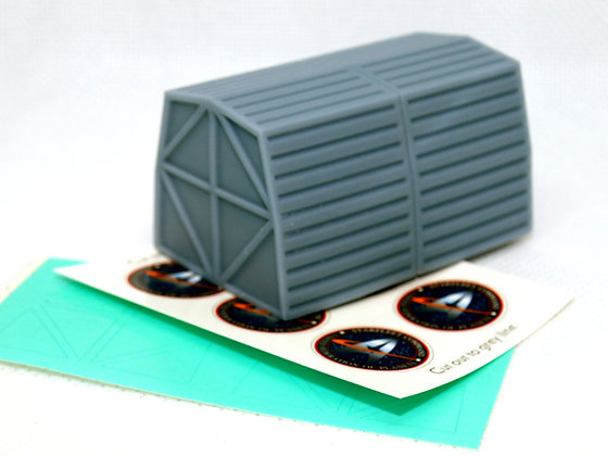 1:72nd scale Quad Cargo Pods (4 x pods joined)