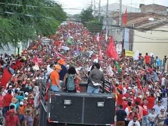 """Monteiro: Ricardo lidera ato SOS Transposição; pede """"Lula Livre"""" e  ação parlamentar"""