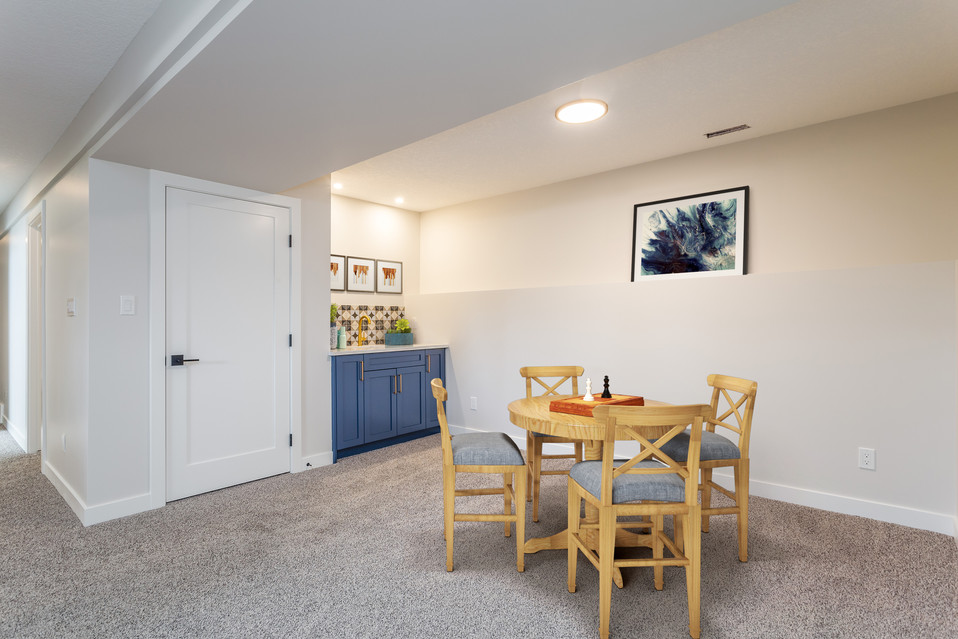 Basement Media and Rec Room with TV 3 -