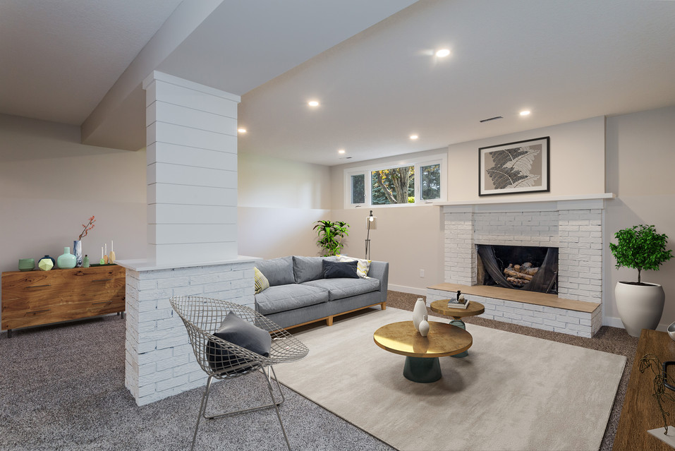 Basement Media and Rec Room with TV 1  -