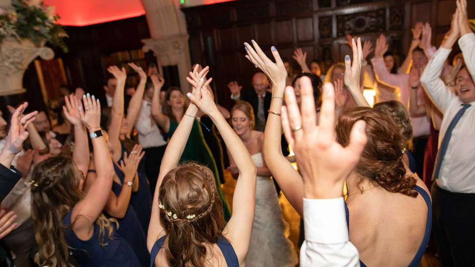 Wedding Band Hands in the air