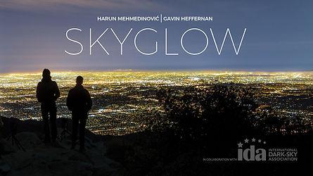 Skyglow night sky light pollution photography IDA